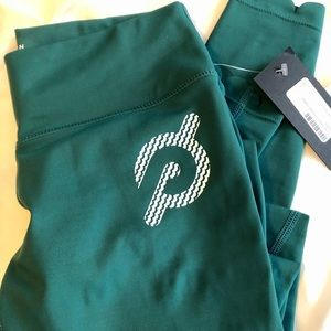 NEW with tags! Peloton Green Scalloped Leggings